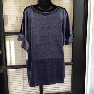 Old Navy Tops - Old Navy Velvet With Ruffle Sleeves Shirt